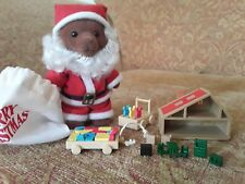 Sylvanian Families Calico Critters Father Christmas + toys VERY RARE / VINTAGE
