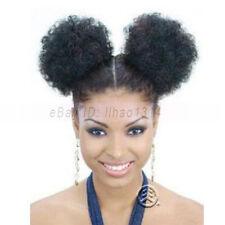 2pcs/set Small Puff Hair Buns Afro Kinky Curls Ponytail Extensions Black Women ~