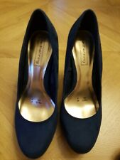 Navy Blue Suede Redherring high heel shoes, size 5/38