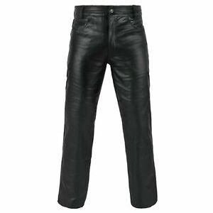 Genuine Leather Full Grain Leather Pant, motorbike style