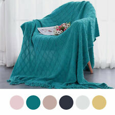 Tassels Decorative Blankets Soft Couch Cover Acrylic  comfortable Fluffy Blanket