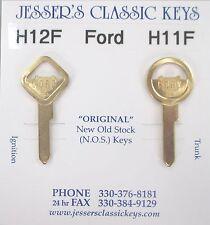 Vintage FORD Brass NOS Keys 1942 1943 1944 1945 1946 1947 1948 1949 1950 1951