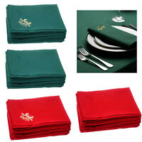 Polyester Napkins 50cm x 50cm Party Tableware Solid Colors All Occasion Decor