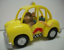 Charming Tails I'd Never steer you wrong mouse in taxi cab figurine Fitz &Floyd