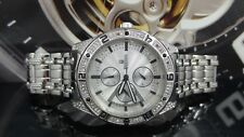 Bulova 96C106 Crystal Accent Silver Tone Dial & Band Stainless Steel Men's Watch