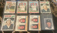 Rich Goose Gossage Topps Lot of  8 1974 #542 (2)1976 #180 (2) 1977 #319 1981 #8