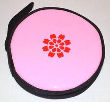 Pink CD VCD DVD Storage Binder Holder Cover Carry Case Zipper 12 Discs