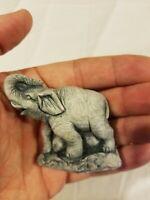 Mt St Helens Mini Sculpture Handcrafted Genuine Volcanic Ash Elephant Figure