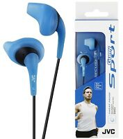 JVC HAEN10 BLUE Gumy Sports In Ear Headphones Sweat Proof Original / Brand New