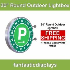 """30"""" Round Outdoor Light Box LED Sign for Sidewalk Advertising with Free Printing"""