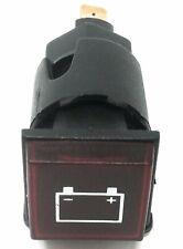SPIA DA INCASSO alternatore batteria rossa FORO 20 mm quadrata