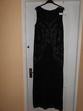 BNWT NEXT BLACK CHIFFON EMBELLISHED MAXI DRESS SIZE 14 RRP £100