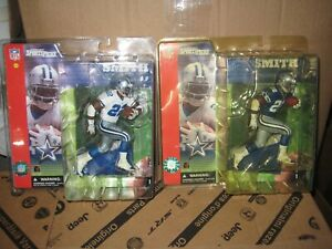 MCFARLANE NFL 1 EMMITT SMITH DIRTY WHITE AND BLUE CHASE VARIANT LOT COWBOYS