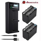 NP-F970 8800mAh 7.4V Battery / LCD Charger For Sony NP-F330 NP-F550 NP-F960 Cam