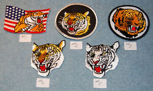 Various Tiger Embroidered Patches, New