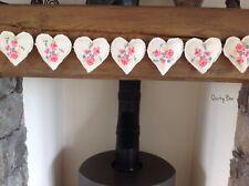 Handmade Heart Garland Bunting Clarke & Clarke FIFI Fabric 💕💕💕