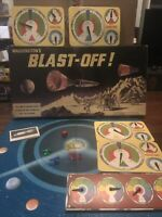 Blast Off Space Exploration Board Game Waddingtons 1969 COMPLETE Boxed