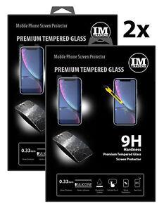 2x Screen Schutz Glas 9H Tempered Glass Echtglas Verbundglas für HUAWEI Modelle