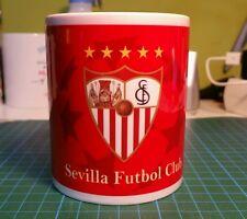 TAZAS DE CERAMICA PERSONALIZADAS MUG SEVILLA FC CUPS.  UEFA Desayuno
