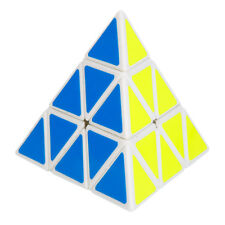 Triangle Pyramid Pyraminx Magic Cube Speed Puzzle Twist Toy Game Education White