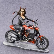 Toy Soldiers Painted Succubus Figurine Motorcycle 54mm Iron Art Metal 1/32