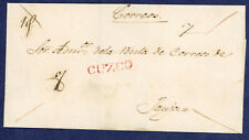 Peru 1822 Prephilatelic Cover Cuzco to Jauja
