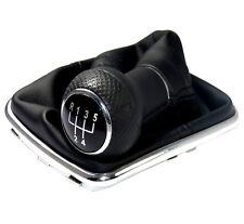Schaltsack + Schaltknauf + Chrom Rahmen passend für VW Golf 4 IV VW Bora (23mm)