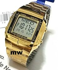 Casio Gold Retro Vintage Classic Alarm Digital DB360G-9 WatchTelememo Data new