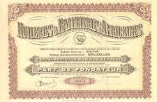 Congo, Huileries & Raffineries Africaines Soc. Congolaise, parte fundador, 1929