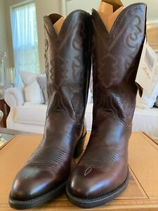 Lucchese Men's Hand Made Dark Brown/Cher Calf Leather Cowboy Boots Size 9D NEW!