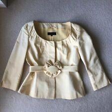 ESCADA Light Lemon Silk Jacket (36) with Belt, UK 10, RRP £1280