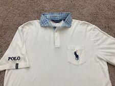 Polo Ralph Lauren Golf Polo Shirt Tour Logo Men's Medium White RLX