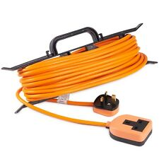 VonHaus Extension Lead 15m H-Frame - One Socket - Tidy Power Lead/ Cable Holder