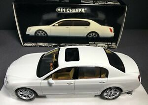 MINICHAMPS 1:18 Bentley Continental Flying Spur 2005 White BRAND NEW *VERY RARE