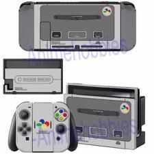 Nintendo Switch Console Joy-Con Dock Skin Super NES Retro SNES Vinyl Skin Decals