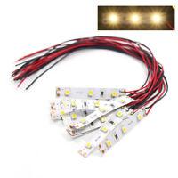 DD01WM 10pcs Pre Wired White Strip Led Light Self-adhesive Flexible 12V ~ 18V