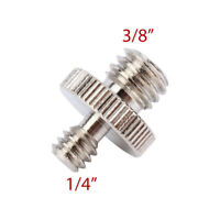 """1/4"""" to 3/8"""" Male Tripod Screw Thread Adapter Size Converter Male to Male"""