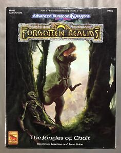 TSR AD&D Forgotten Realms FR1 The Jungles of Chult, map included, great shape