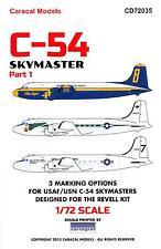 Caracal Decals 1/72 DOUGLAS C-54 SKYMASTER Part 1