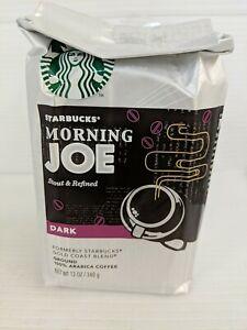 1 Bag Starbucks Morning Joe Dark Roast Ground Coffee 12 Oz Each.