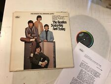 Beatles Yesterday and Today LP w/LETTER st2553 rare orig rainbow colorbnd stereo