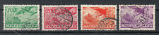 Briefmarken Ungarn 1936 Flugpost Mi.528+29+32+33 gestempelt