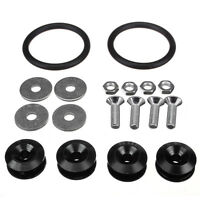 Black Quick Release JDM Bumper Fender Trunk Fastener Screw Bolt Loop Ring K J5G7