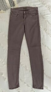 """Mother """"The Looker"""" Pop Dusty French Lilac Skinny Stretch Jeans SZ 25"""