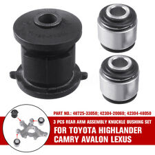 3Pcs Rear Arm Assembly Knuckle Bushing For Toyota Highlander Camry Avalon Lexus
