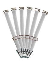 6 passende Strumpfhalter in Weiss für Voll, Halb und Unterbrustkorsetts