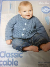 Knitting Pattern For  Cabled Cardigan  In D.K.- Sizes Birth- 5 Years