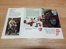 Rupp Minibike Kart Brochure Bi-fold Advertising Ad 1970 Original