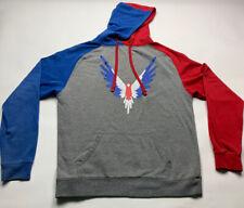 Maverick by Logan Paul Sweatshirt Red & Blue The Favorite Hoodie Size LARGE