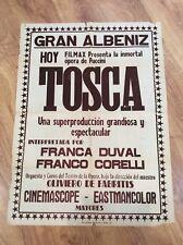 TOSCA Original Vintage 1958 MUSICAL PUCCINI OPERA Movie Film Poster FRANCA DUVAL